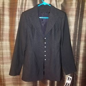 Authentic Chanel Suit Coat size 8 10 jacket blazer